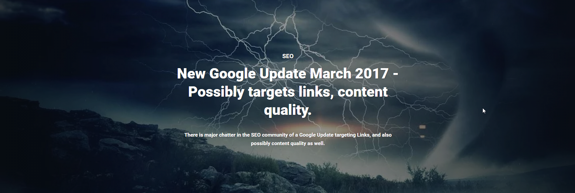 New Google Update March 2017