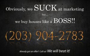 We buy houses in connecticut marketing card