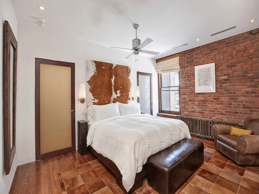 Elegant Bedroom In New York City Apartment With A Rustic Style